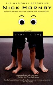 nick hornby, book review, book cover, about a boy, british humor