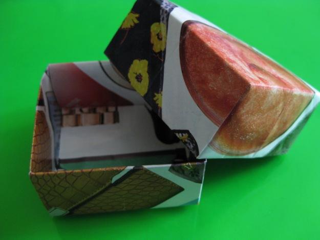 Origami box, paper, gift box, recycled magazine