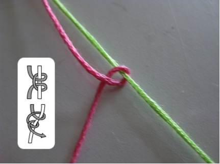 embroidery floss, heart pattern, friendship bracelet