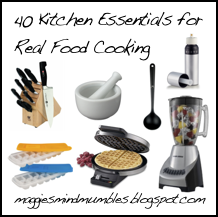 Maggie's Mind Mumbles//: 40 Real Food Kitchen Essentials