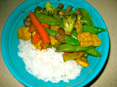 cooking tofu, stir-fry, veggies