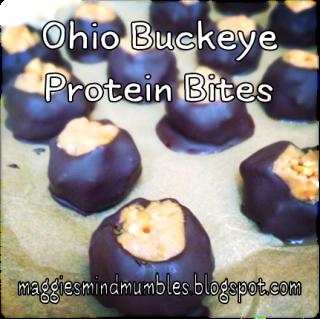 Maggie's Mind Mumbles//: Ohio Buckeye Protein Bites